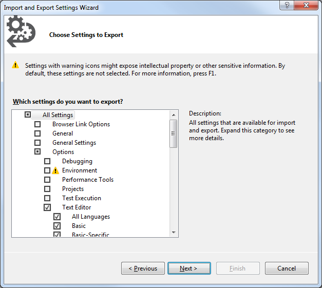 The ultimate guide to share Visual Studio settings within a